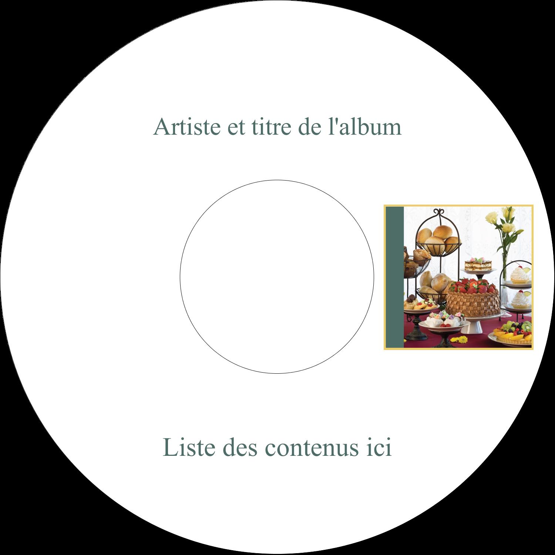 "8½"" x 11"" Intercalaires / Onglets - Pain et dessert"