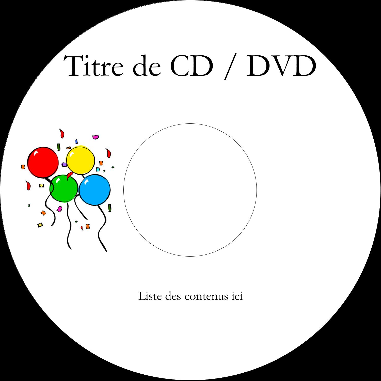 CD/DVD Étiquettes Pour Médias - Quatre ballons