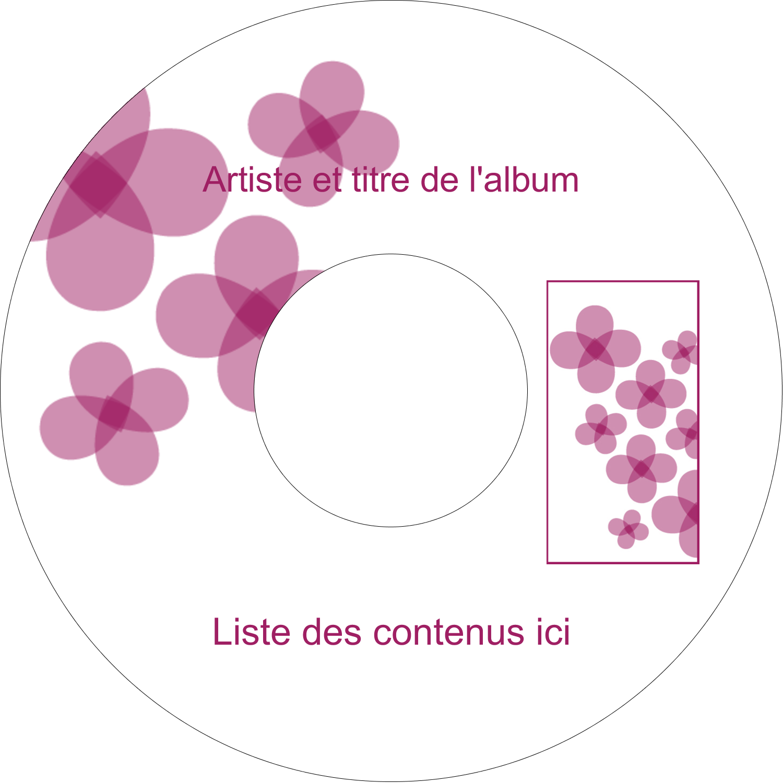 "8½"" x 11"" Intercalaires / Onglets - Fleurs violettes"
