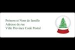 Boule à neige arbre de Noël Étiquettes à codage couleur - gabarit prédéfini. <br/>Utilisez notre logiciel Avery Design & Print Online pour personnaliser facilement la conception.