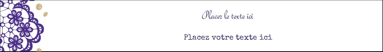 """8½"""" x 11"""" Binder Insert Reliures - Mariage en dentelle violette"""