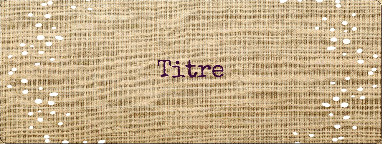 """4"""" x 1⅓"""" Étiquettes D'Adresse - Toile à frange"""