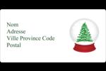 Boule à neige arbre de Noël Étiquettes Polyvalentes - gabarit prédéfini. <br/>Utilisez notre logiciel Avery Design & Print Online pour personnaliser facilement la conception.