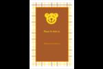 Ours jaune Cartes Et Articles D'Artisanat Imprimables - gabarit prédéfini. <br/>Utilisez notre logiciel Avery Design & Print Online pour personnaliser facilement la conception.