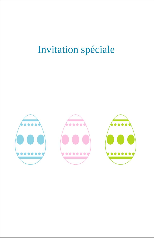"""8½"""" x 5"""" Cartes Et Articles D'Artisanat Imprimables - Trio d'œufs de Pâques"""