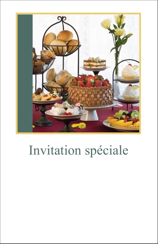 """8½"""" x 11"""" Binder Insert Reliures - Pain et dessert"""