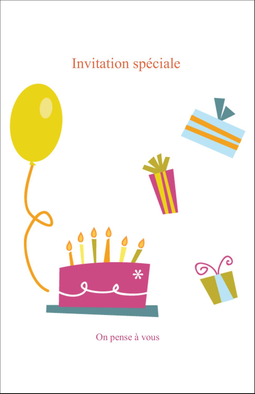 "8½"" x 11"" Binder Insert Reliures - Fête d'anniversaire"