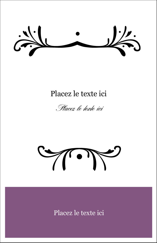 """8½"""" x 11"""" Binder Insert Reliures - Filigrane violet"""