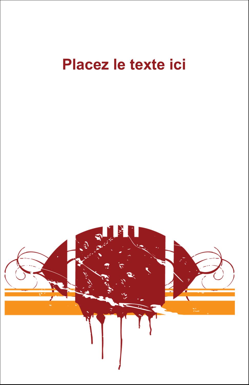 """8½"""" x 5"""" Cartes Et Articles D'Artisanat Imprimables - Football débraillée"""