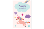 Licorne en fête Reliures - gabarit prédéfini. <br/>Utilisez notre logiciel Avery Design & Print Online pour personnaliser facilement la conception.