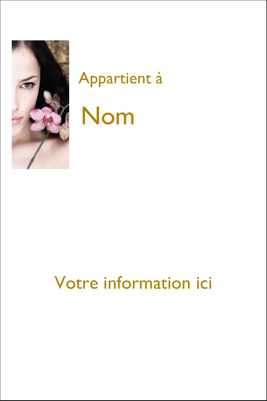 """6"""" x 4"""" Étiquettes Polyvalentes - Femme aux orchidées"""