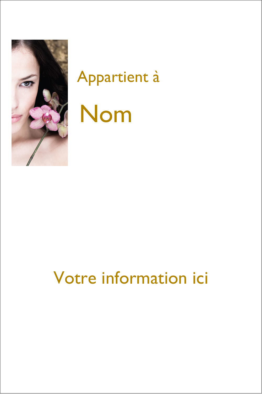 Femme aux orchidées Étiquettes Polyvalentes - gabarit prédéfini. <br/>Utilisez notre logiciel Avery Design & Print Online pour personnaliser facilement la conception.