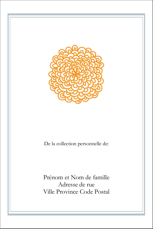 """3½"""" x 1"""" Étiquettes pour couvertures de rapport - Ex-libris générique"""