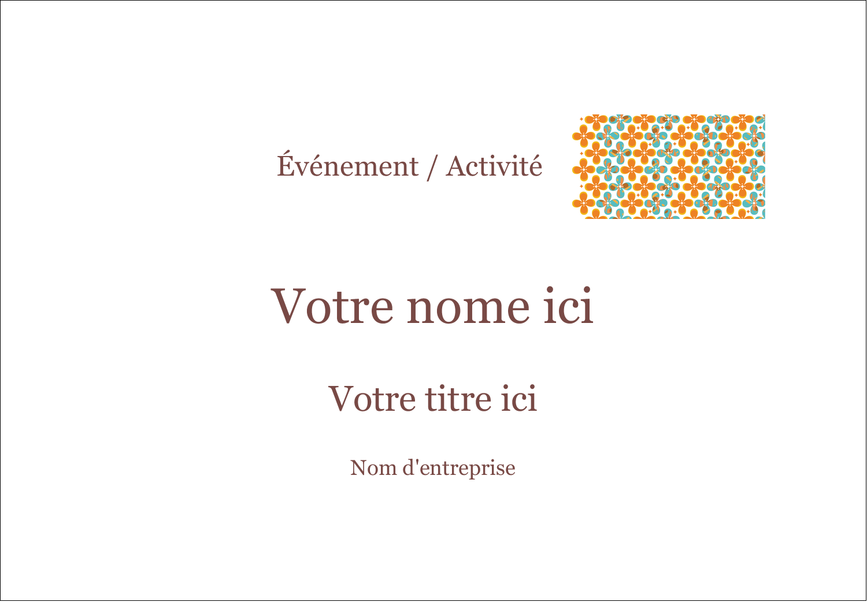 """2-11/12"""" x 3⅜"""" Étiquettes badges autocollants - Motif fleuri"""