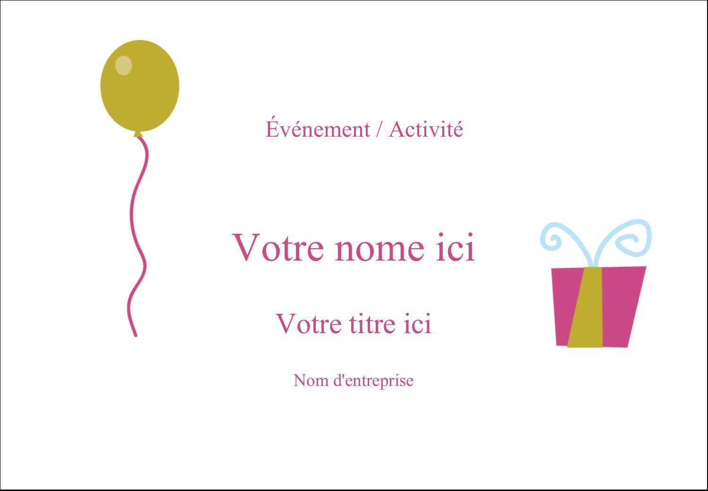 """2-11/12"""" x 3⅜"""" Étiquettes badges autocollants - Fête d'anniversaire"""