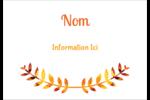 Feuilles mortes Étiquettes badges autocollants - gabarit prédéfini. <br/>Utilisez notre logiciel Avery Design & Print Online pour personnaliser facilement la conception.