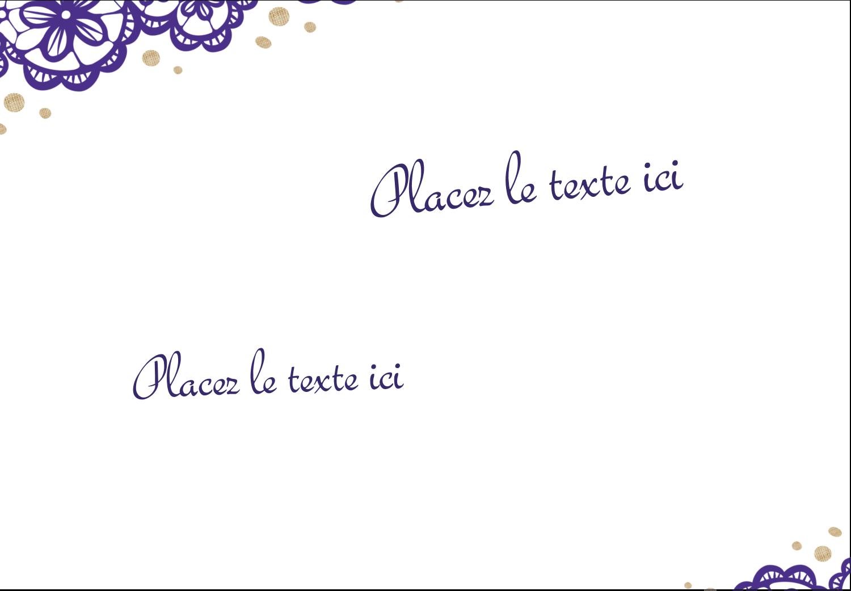 """2-11/12"""" x 3⅜"""" Étiquettes badges autocollants - Mariage en dentelle violette"""