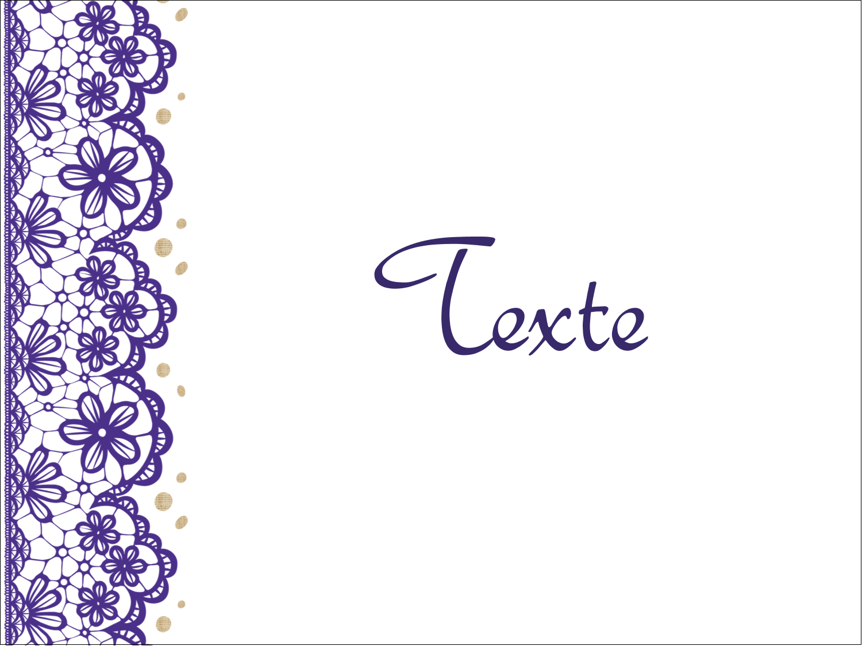 """3"""" x 1"""" Étiquettes Polyvalentes - Mariage en dentelle violette"""