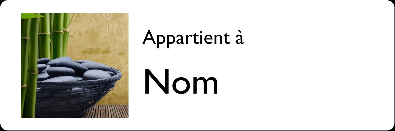 """3"""" x 1"""" Étiquettes Polyvalentes - Bien-être"""