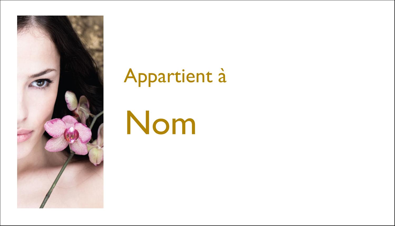 """4"""" x 2"""" Étiquettes Polyvalentes - Femme aux orchidées"""