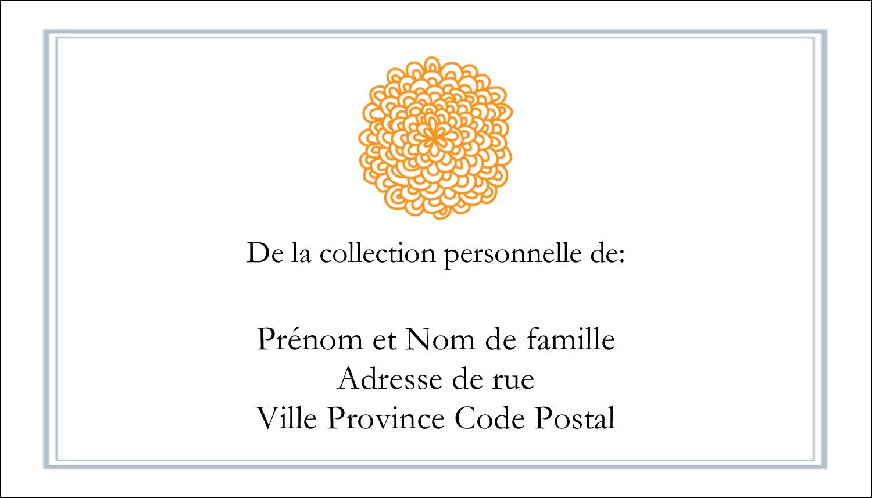 """6"""" x 4"""" Étiquettes Polyvalentes - Ex-libris générique"""