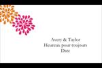 Fête prénuptiale en rose et orange Étiquettes Polyvalentes - gabarit prédéfini. <br/>Utilisez notre logiciel Avery Design & Print Online pour personnaliser facilement la conception.