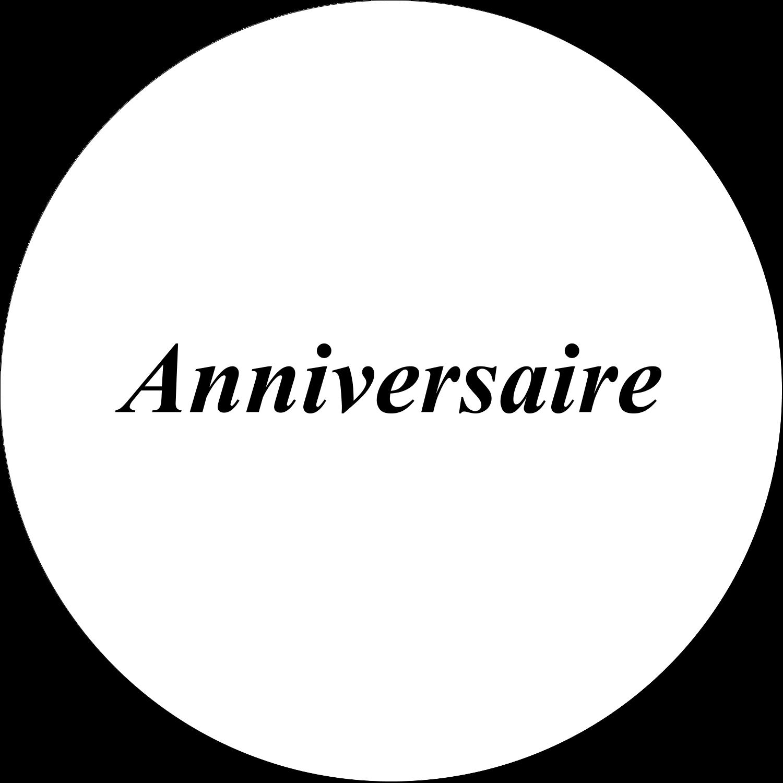 """¾"""" Étiquettes à codage couleur - Fête d'anniversaire"""