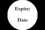 Silhouette de fleur Étiquettes à codage couleur - gabarit prédéfini. <br/>Utilisez notre logiciel Avery Design & Print Online pour personnaliser facilement la conception.