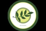 Rameau d'olivier simple Étiquettes Voyantes - gabarit prédéfini. <br/>Utilisez notre logiciel Avery Design & Print Online pour personnaliser facilement la conception.