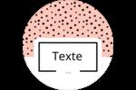Jolis pois Étiquettes Voyantes - gabarit prédéfini. <br/>Utilisez notre logiciel Avery Design & Print Online pour personnaliser facilement la conception.