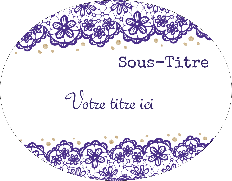 "9"" x 11"" Intercalaires / Onglets - Mariage en dentelle violette"