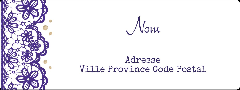 Mariage en dentelle violette Étiquettes d'adresse - gabarit prédéfini. <br/>Utilisez notre logiciel Avery Design & Print Online pour personnaliser facilement la conception.