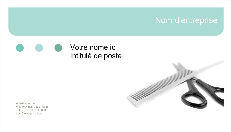 """2"""" x 3½"""" Carte d'affaire - Soins des cheveux"""
