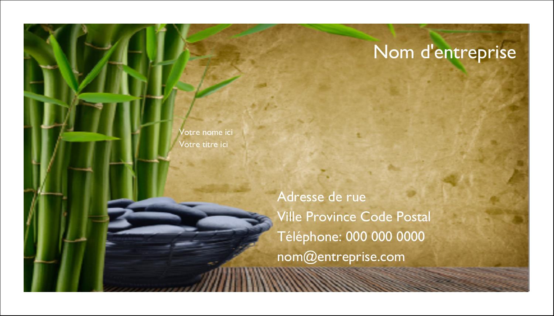 """2"""" x 3½"""" Carte d'affaire - Bien-être"""