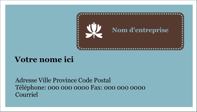"""3"""" x 5"""" Cartes Pour Le Bureau - Bordure en brun et bleu"""