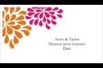 Fête prénuptiale en rose et orange Cartes Pour Le Bureau - gabarit prédéfini. <br/>Utilisez notre logiciel Avery Design & Print Online pour personnaliser facilement la conception.