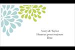 Fleurs bleues et vertes Cartes Pour Le Bureau - gabarit prédéfini. <br/>Utilisez notre logiciel Avery Design & Print Online pour personnaliser facilement la conception.