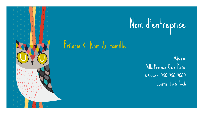 """3"""" x 5"""" Cartes Pour Le Bureau - Hibou rusé"""