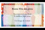 Cravate de la Fête des Pères Cartes Pour Le Bureau - gabarit prédéfini. <br/>Utilisez notre logiciel Avery Design & Print Online pour personnaliser facilement la conception.