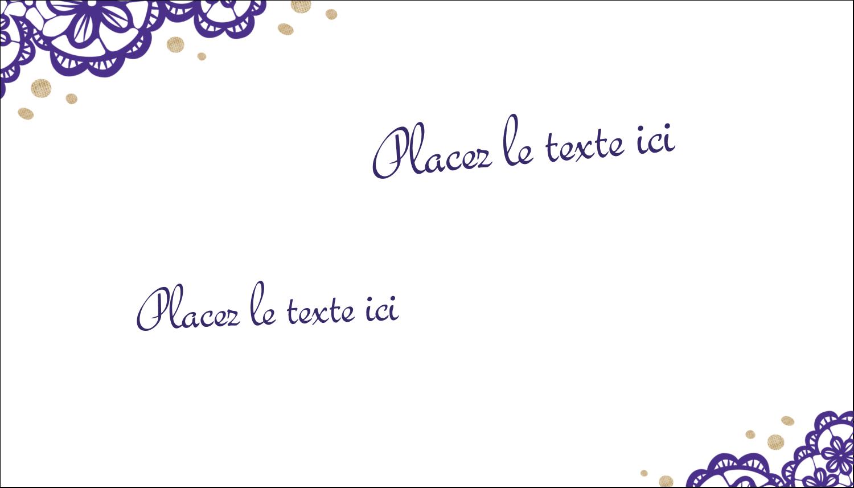 """3"""" x 5"""" Cartes Pour Le Bureau - Mariage en dentelle violette"""