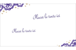 Mariage en dentelle violette Cartes Pour Le Bureau - gabarit prédéfini. <br/>Utilisez notre logiciel Avery Design & Print Online pour personnaliser facilement la conception.