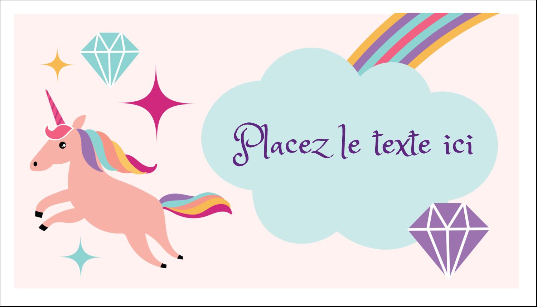 """3"""" x 5"""" Cartes Pour Le Bureau - Licorne en fête"""