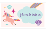 Licorne en fête Cartes Pour Le Bureau - gabarit prédéfini. <br/>Utilisez notre logiciel Avery Design & Print Online pour personnaliser facilement la conception.