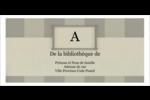 Initiale ex-libris Étiquettes Pour Copieurs - gabarit prédéfini. <br/>Utilisez notre logiciel Avery Design & Print Online pour personnaliser facilement la conception.