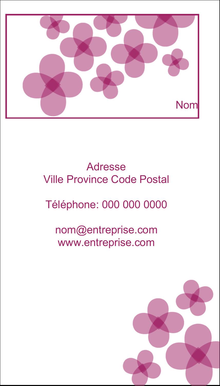 """4¼"""" x 5½"""" Carte de note - Fleurs violettes"""