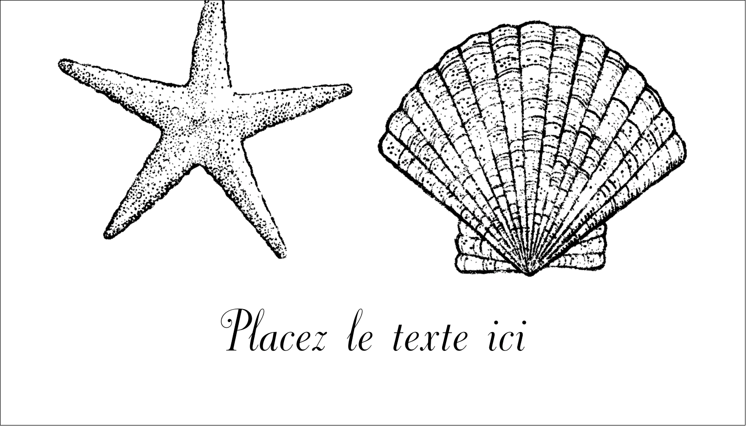 "2"" x 3½"" Carte d'affaire - Plage"