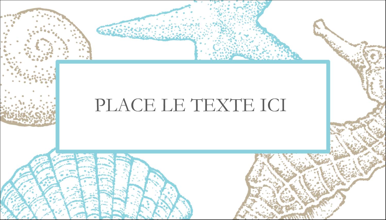 """2"""" x 3½"""" Carte d'affaire - Bleu plage"""