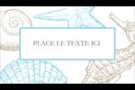 Bleu plage Carte d'affaire - gabarit prédéfini. <br/>Utilisez notre logiciel Avery Design & Print Online pour personnaliser facilement la conception.