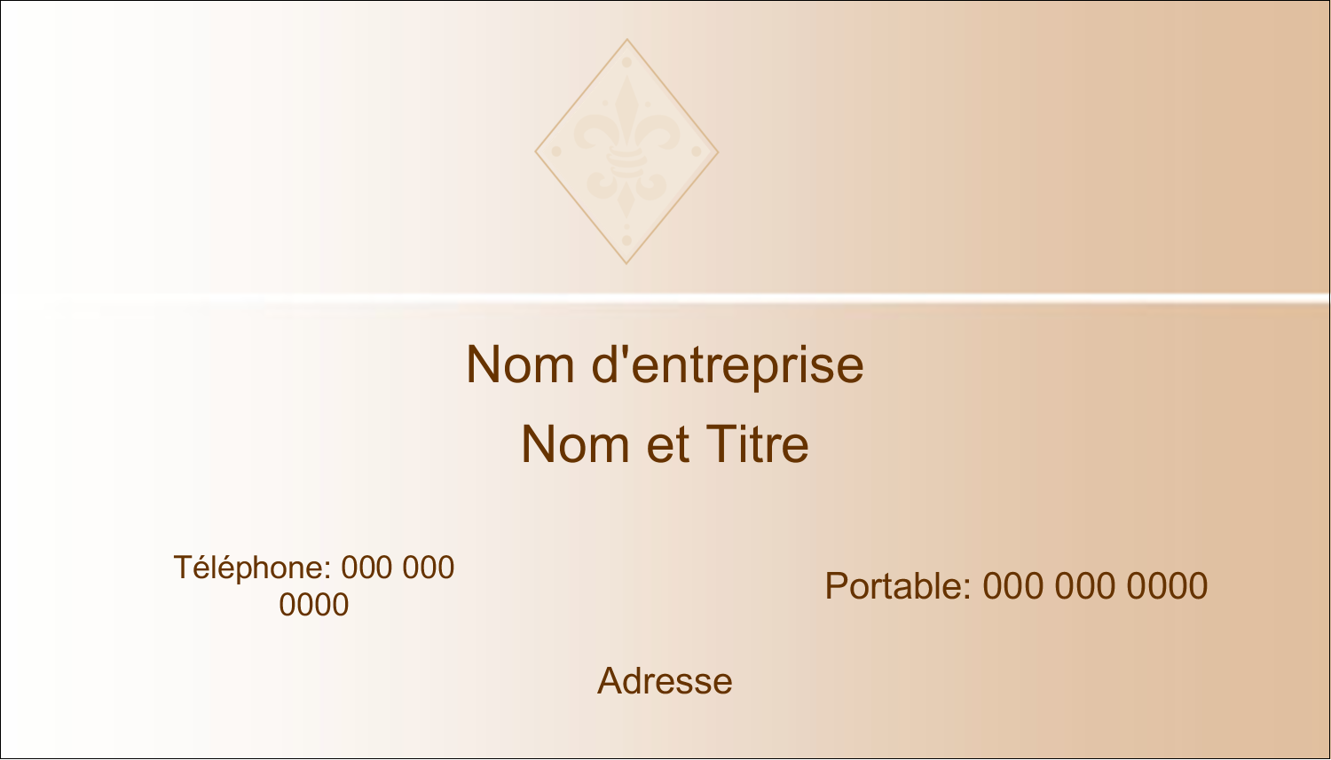 "2"" x 3½"" Carte d'affaire - Diamant beige"