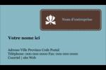 Bordure en brun et bleu Carte d'affaire - gabarit prédéfini. <br/>Utilisez notre logiciel Avery Design & Print Online pour personnaliser facilement la conception.